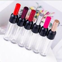 5-7ml di Vino Vuoto A Forma di Lip Gloss Tubo Del Rossetto Tubi Argento/Oro/Rosso/Colore Rosa Libero Reffilable bottiglia di plastica Contenitore di Imballaggio Cosmetico