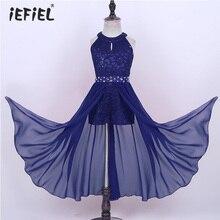 פרחוני תחרה בנות שמלת נסיכת ילדי בנות שמלות למסיבה וחתונה ילדי Vestidos Infantil שרוולים ארוך מקסי שמלה