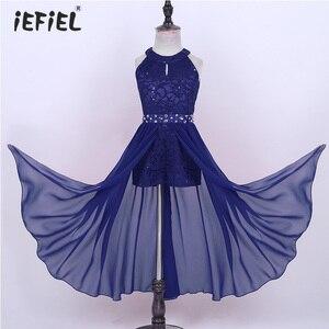 Image 1 - פרחוני תחרה בנות שמלת נסיכת ילדי בנות שמלות למסיבה וחתונה ילדי Vestidos Infantil שרוולים ארוך מקסי שמלה