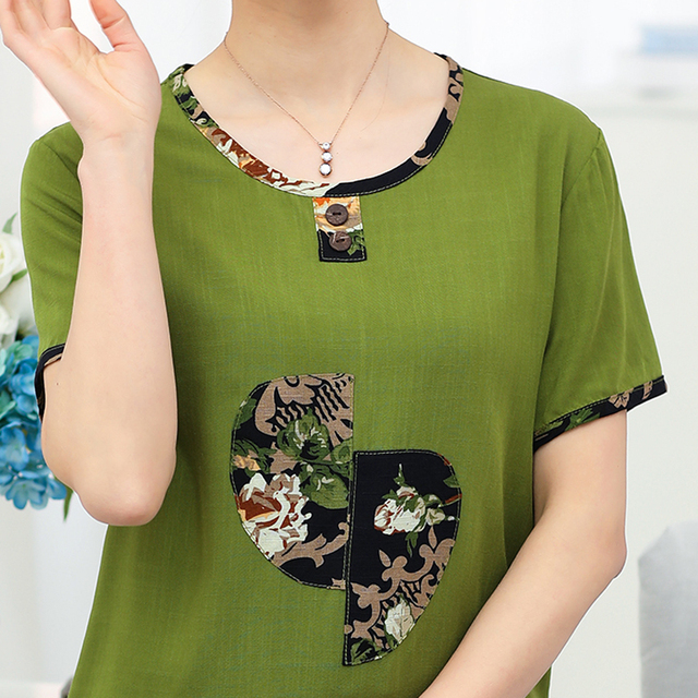 Women Sets 2 Pieces Emulation silk Clothing Set Large Size XL-6XL 2018 Summer Middle aged mother High quality brand Tops+Pants 3