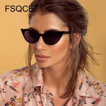Gafas de sol FSQCE de moda de calle de estilo clásico con diseño de ojo de gato para mujer