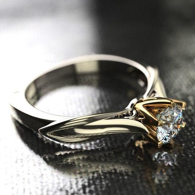 18K Multi Gold Ring for Women Natural 1 Carat Diamond with Diamond Jewelry Anillos De Bizuteria Anillos Mujer Gemstone Rings Box 5