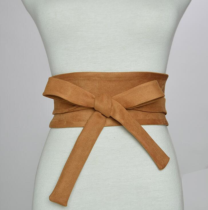 Women's Runway Fashion Cotton Cummerbunds Female Dress Corsets Waistband Belts Bow Decoration Wide Belt R2380