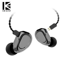 KBEAR KB04 1BA+1DD Hybrid driver HIFI earphone Dj running earbud with 2 pin conn