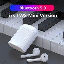 2020 i7S TWS מיני אלחוטי Bluetooth 5.0 אוזניות אוזניות ספורט דיבורית אוזניות אוזניות עם טעינת תיבה עבור כל טלפונים