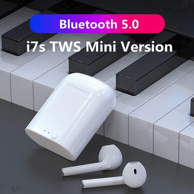 2020 i7S TWS Mini Wireless Bluetooth 5.0 Earphones Earbuds Sport Handsfree Headphones Headset With Charging Box for All Phones