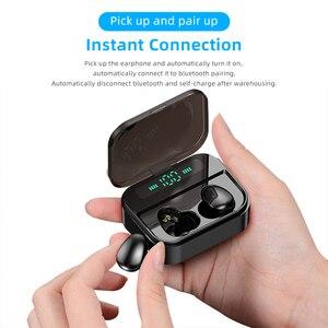 Image 5 - TWS 무선 이어폰 무선 이어폰 이어폰 모든 전화를위한 2200mAh 힘 은행을 가진 소형 방수 Headfrees
