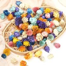 Artificial-Flower Decor Pine-Cones Diy Garland Christmas Wedding for Gift-Box Handmade