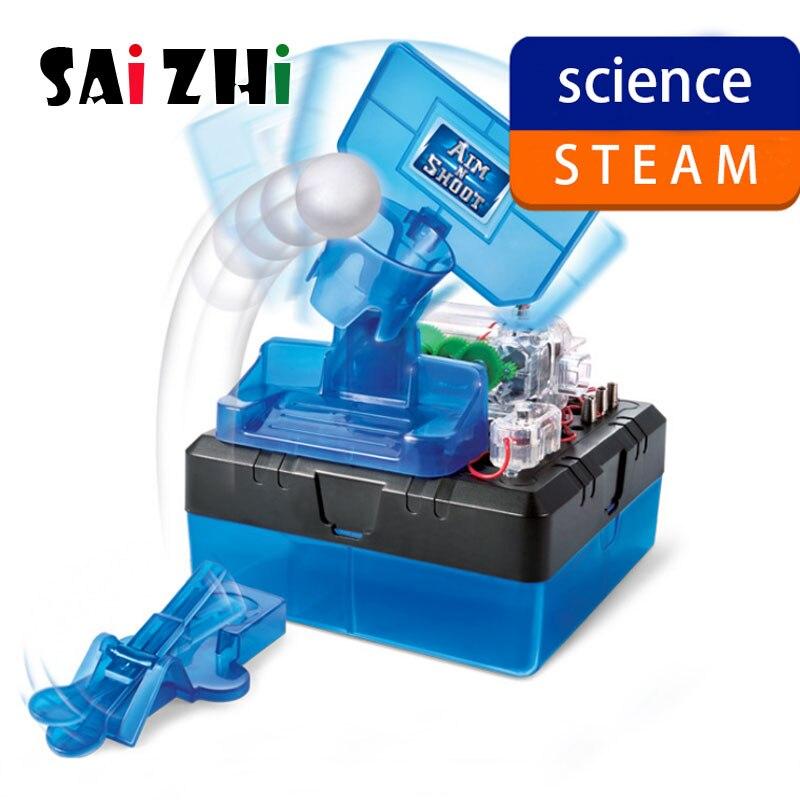 SZ STEAM bricolage tige jouets pour enfants physique scientifique expérience créativité apprentissage jouet éducatif bricolage tir machine cadeau