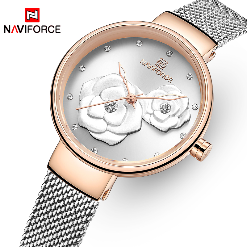 Women Watches NAVIFORCE Top Brand Luxury Ladies Quartz Watch Waterproof Women's Wristwatch Fashion Girls Clock Relogios Feminino