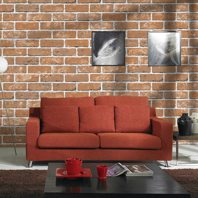 3D Antique Brick Pattern Brick Wallpaper Retro Brick Wall Barber Shop Clothing Store Restaurant Hotel Wallpaper