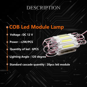 Image 4 - DHL 1000 قطعة/الوحدة حقن مع عدسة COB LED وحدة مقاوم للماء LED الضوء الخلفي الخلفية ل تسجيل قناة رسالة DC12V 2 واط IP