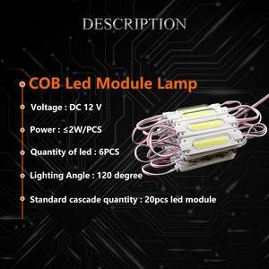 Image 4 - DHL 1000 adet/grup lens ile enjeksiyon COB LED modülü su geçirmez LED arka işık arka işık işareti kanal mektup için DC12V 2W IP