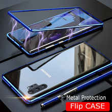Magnetic Adsorption Case For SAMSUNG Galaxy Note 10 Plus 360 Magnet Samsung Cover Metal Bumber Cases