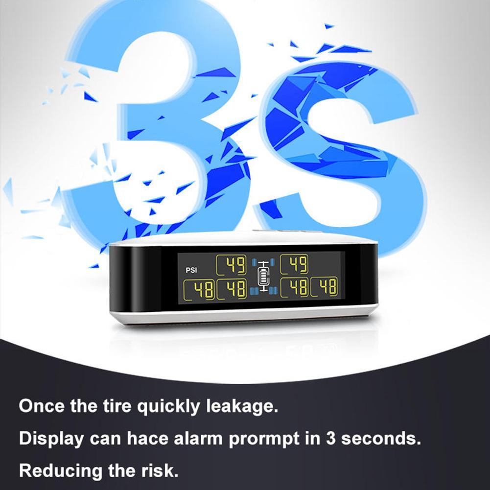 Auto TPMS U8T Wireless Tire Pressure Monitoring System Für Auto Pickup Lkw Echt-zeit Alarm Druck Und Temperatur LCD display