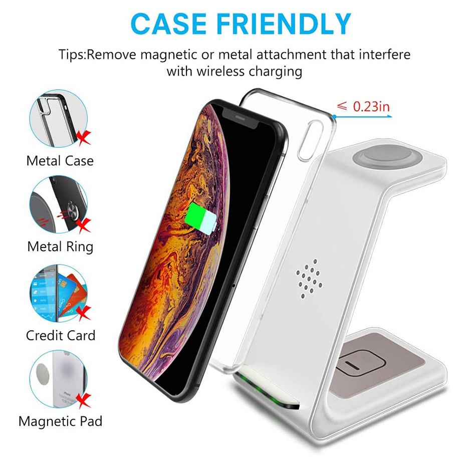 Bonola White 3 in 1 Fast Wireless Charging Stand  (6)