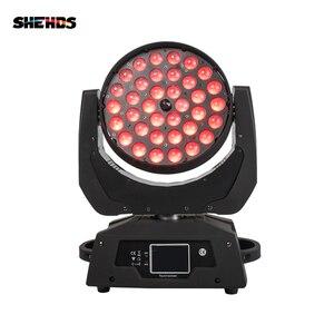 Image 1 - 2 adet/grup LED yakınlaştırma yıkama 36x18W RGBWA + UV renk DMX sahne dokunmatik ekran LED hareketli kafa yıkama için iyi ışık DJ disko parti ve kulüpleri