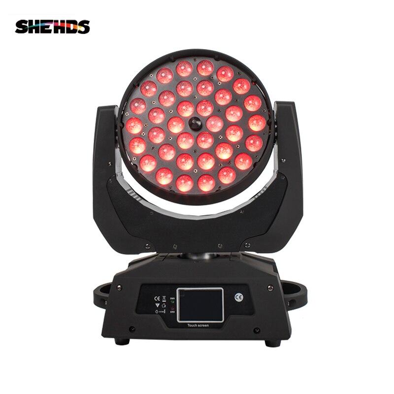 2 pièces/lot LED Zoom lavage 36x18W RGBWA + UV couleur DMX scène écran tactile LED tête mobile lavage lumière bon pour DJ Disco fête et Clubs