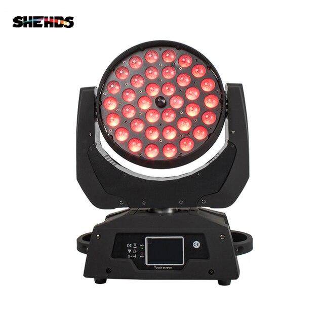 Zoom LED Wash de 36x18W RGBWA + UV, pantalla táctil de escenario, DMX, luz LED con cabeza móvil, para DJ, Fiesta Disco y clubes, 2 unids/lote