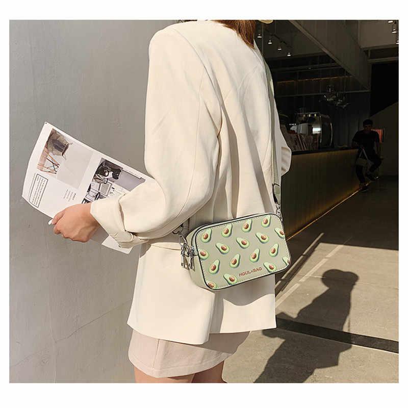 PUIMENTIUA meyve avokado çanta küçük kutu şekli omuzdan askili çanta pembe çilek Crossbody çanta karpuz çanta moda askılı çanta