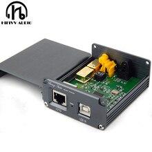 جهاز فك تشفير USB الصوتي HiFi من رقاقة XMOS U308 لمضخم الصوت USB محول USB رقمي إلى spdif الألياف البصرية المحورية IIS D192K 24BIT