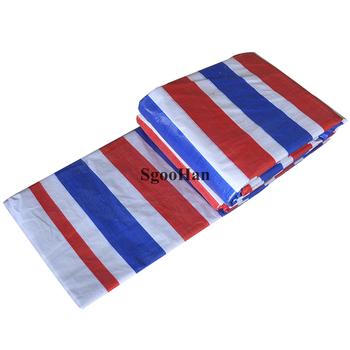 3-kolory 85g m2 PE odporny na deszcz tkaniny roślina ogrodowa pokrywa psia buda rzucić deszczowych plandeki cieniowania żagle osłona przeciwpyłowa wodoodporna tkanina tanie i dobre opinie SgooHan CN (pochodzenie) Odcień żagle obudowa nets Z-0113 Nie powlekany 3-Colors (white red blue)