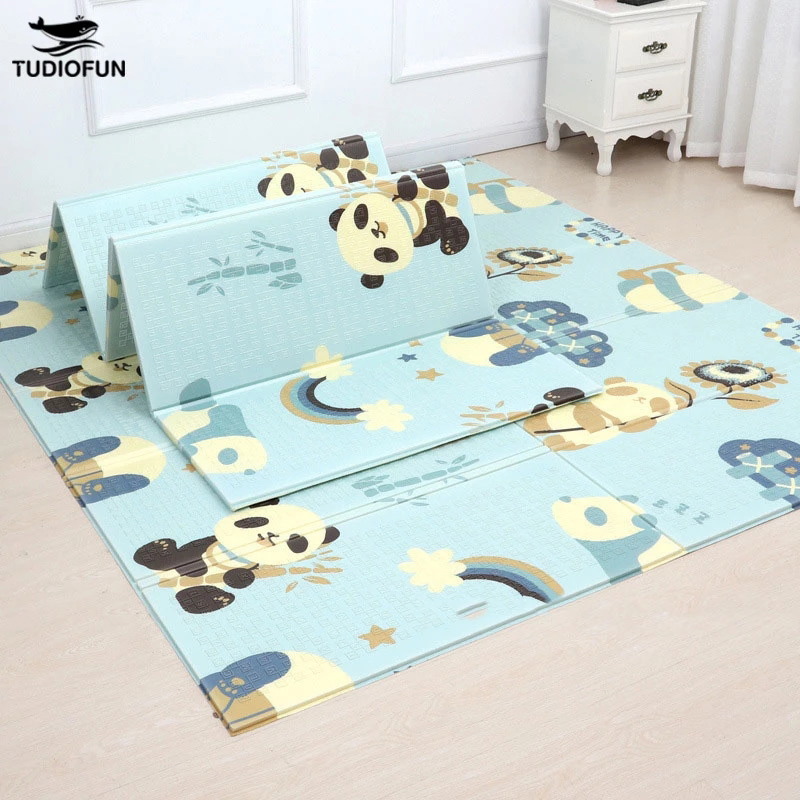 Large Size Foldable Cartoon Baby Play Mat Xpe Puzzle Children's Mat Baby Climbing Pad Kids Rug Baby Games Mats Toys For Children 1