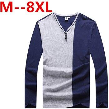 big size 10xl 9xl 8xl 7xl 6xl 5xl 4xl Hot Sale Casual Long Sleeve Men T-Shirt Solid Color Slim Fit TShirt Spandex Men Plus Size
