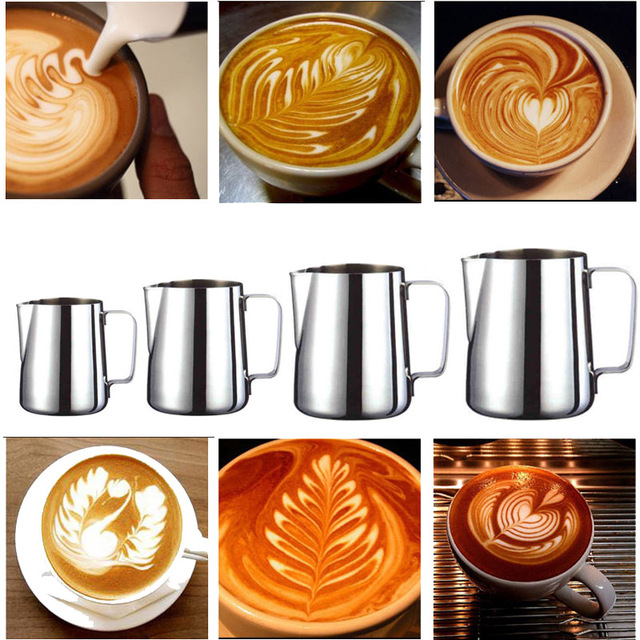 Handheld Stainless Steel Milk Frothing Jug Espresso Coffee Pitcher Barista Craft Coffee Latte Milk Frothing Jug Pitcher 2020 New 2