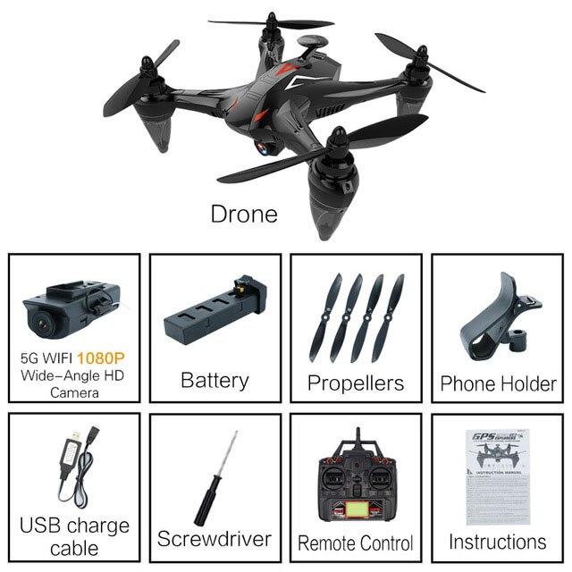 RC складной Дрон gps с HD камерой RC Квадрокоптер с широкоугольной камерой RC вертолет с высоким режимом удержания игрушки для детей# E - Цвет: 1080P