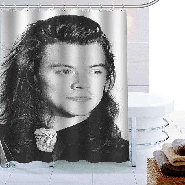 benutzerdefinierte beliebte harry styles dusche vorhang wasserdichtes gewebe bad vorhang 180x180cm polyester stoff bad vorhang