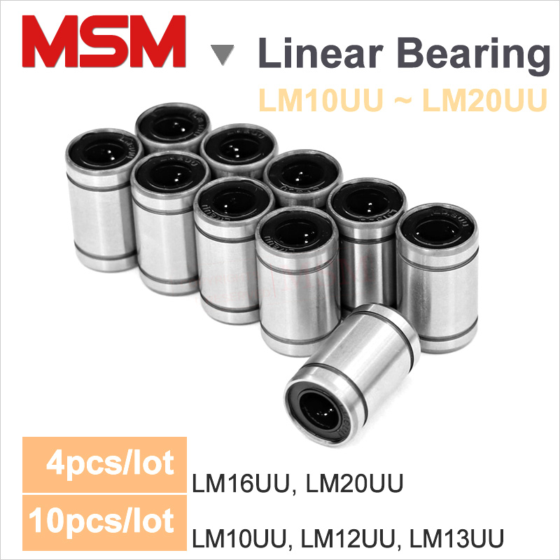 FLY MEN 5Pcs LM13UU Linear Bearings Linear Bushing Flang Motion Ball Router Shaft Engraving Machine Slider Rolling CNC 3D Printer Automation Parts