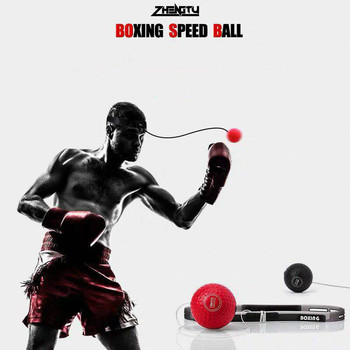 boxing reaction training ball speed ball decompression ball for gym boxing improve speed with reaction training Reflex Ball Boxing Reflex Speed Punch Ball Muay Tai MMA Sanda Boxer Raising Reaction Force Hand Eye Training Set Two Boxing Ball