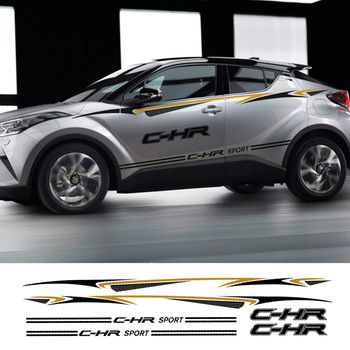 Car Door Side Waist Line Sticker And Decal For Toyota C-HR Captivating Vinyl Auto Body Decor Accessories Car PVC Stickers