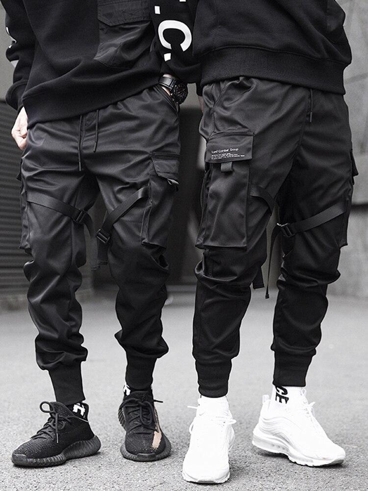 Joggers-Pants Hip-Hop BYBB'S Techwear DARK Elastic-Waist 11 Multi-Pocket Men