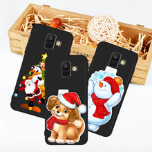 New Merry Christmas Deer cat dog phone case for Samsung Galaxy A3 A5 A6 A7 A8 A9 A10 A30 A40 A50 A90 J3 J4 J5 J6 J7 J8 Plus etui(China)