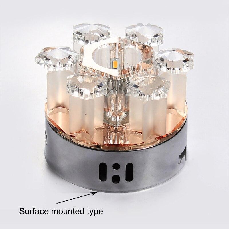 luzes de teto led cristal moderno do 04