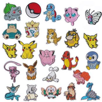 Cartoon Pokemon Pikachu żelazko na łacie haftowane ubrania naszywki na ubrania dla dzieci Umbreon naszywki na ubrania odzieży aplikacje tanie i dobre opinie TAKARA TOMY CN (pochodzenie) 0 01kg Pikachu Iron on patch