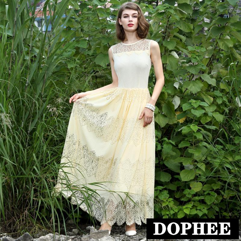 Spring and Summer Princess Lace Dresses Women Elegant Sleeveless - Women's Clothing