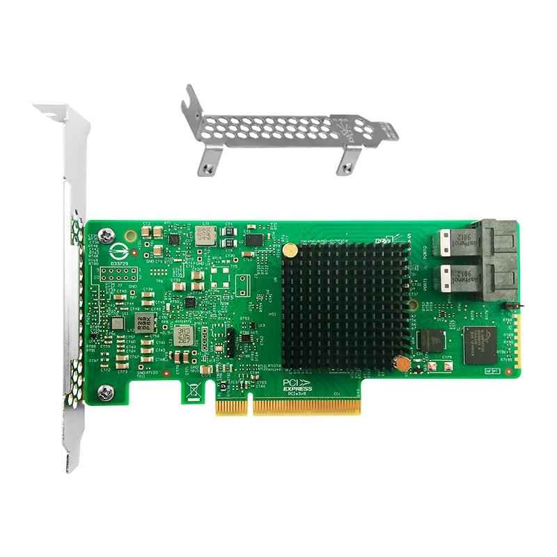 NEW LSI SAS 9311-8I PCI-E TO 12Gb//s SAS Host Bus Adapter 3.0 SATA+SAS US seller