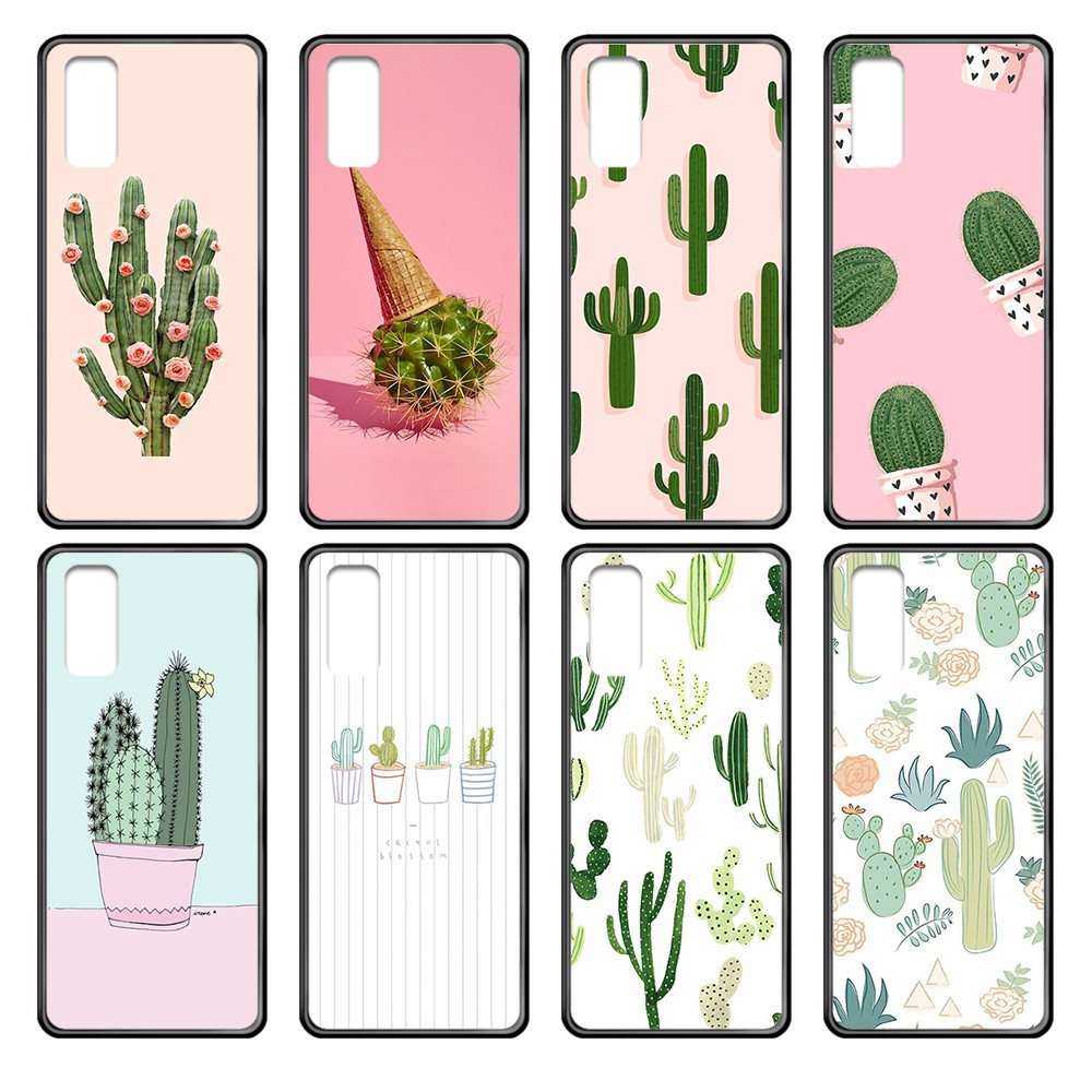 Cartoon plant cactus hoesjes black Phone case cover hull For Samsung Galaxy J S <font><b>1</b></font> 2 3 4 <font><b>5</b></font> 6 7 8 9 <font><b>10</b></font> Ace Prime Plus Lite Edge image