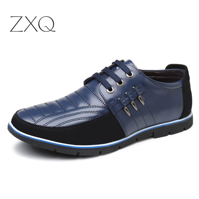 Plus Size 38-48 Leather Casual Shoes Men High Quality Autumn For Flat