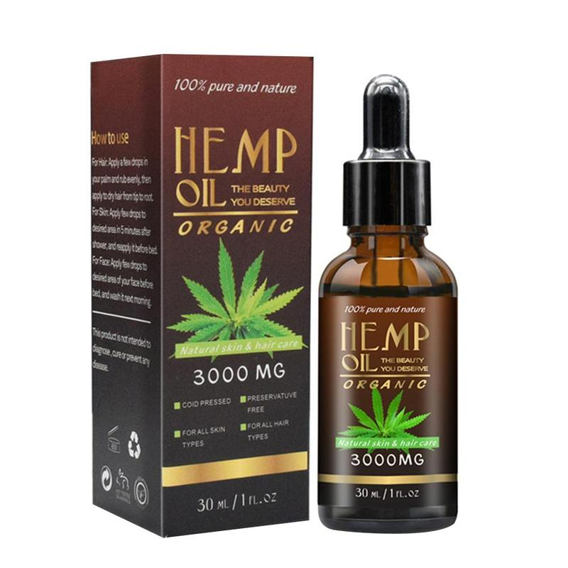 30ml 100% Organic Hemp CBD Oil 2000mg Bio active Hemp Seeds Oil Extract  Drop for Pain Relief Reduce Anxiety Better Sleep Essential Oil  - AliExpress