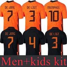 Holanda versão dos jogos masculinos do fã de futebol versão t camisa 20 21 persie crianças kit masculino