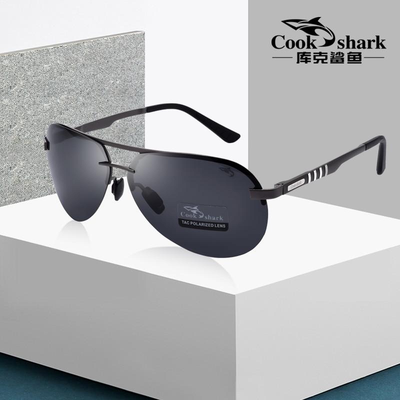 Мужские солнцезащитные очки Cook Shark, Мужские поляризационные синие солнцезащитные очки для вождения