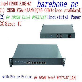 6 ethernet LAN ports network security firewall linux fanless 1U rackmount server Intel Celeron Quad Core J1900 1u j1900 firewall router pfsense router server firewall server with j1900 2 0ghz 4 82583v 1000mbps lans 4 lan