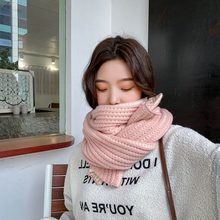 Autumn Winter Female Scarf Fashion Warm Women Cashmere Scarves Wide Long Shawl Wrap Blanket Warm Tippet(China)