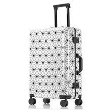 Новая высококачественная алюминий рама для багажа на колесиках, брендовые дорожные сумки для мужчин и женщин, чемодан с паролем