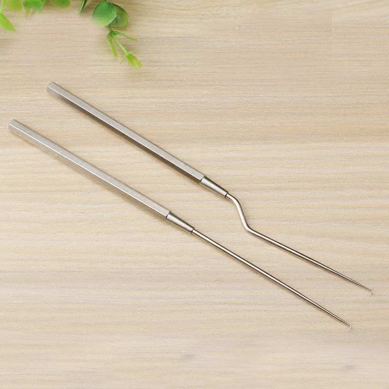 Stainless Steel Ear Use Hook Cerumen Hook/earpick Straight/Gun Type Hospital ENT Instrument Tool