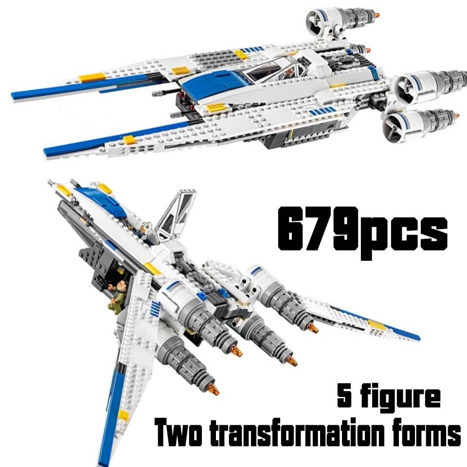 05054 Star Wars The Rebel U Wing Fighter Jets Model 679pcs Building Blocks Bricks Compatible Legoinglys Toys Kids Gifts